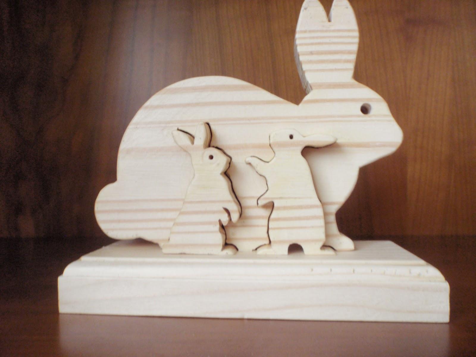 Mis trabajos en madera puzzle de conejitos - Madera para marqueteria ...
