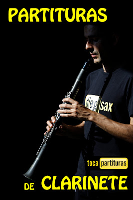 "Partituras de CLARINETE ""1000 Partituras Musicales para tocar con tu Trompeta"" en Si Bemol tocapartituras.com"