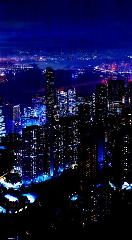 Download Wallpaper 750x1334 Night City Sky Skyscrapers iPhone 6