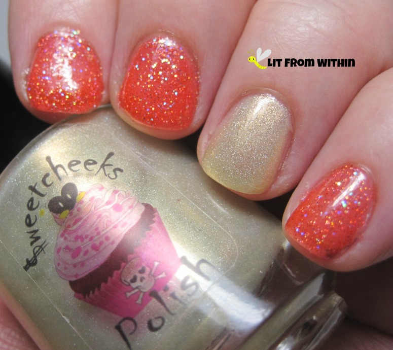 Sweetcheeks Polish Red Rainbow and Midas Rose