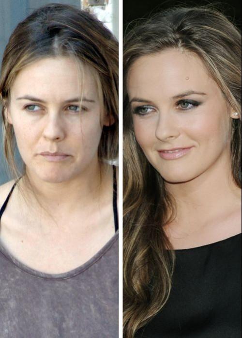 Alica Silverstone sans maquillage