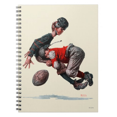 A skinny boy with football gets tackled | Funny Caricature Notebook