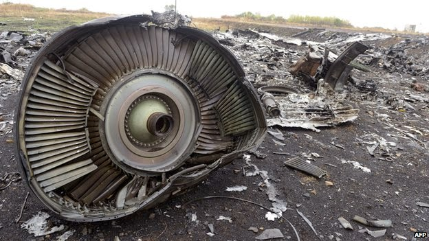 BBC image of MH17 crash site