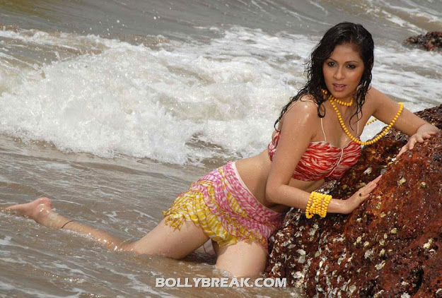 Sada Hot Navel Show on Beach