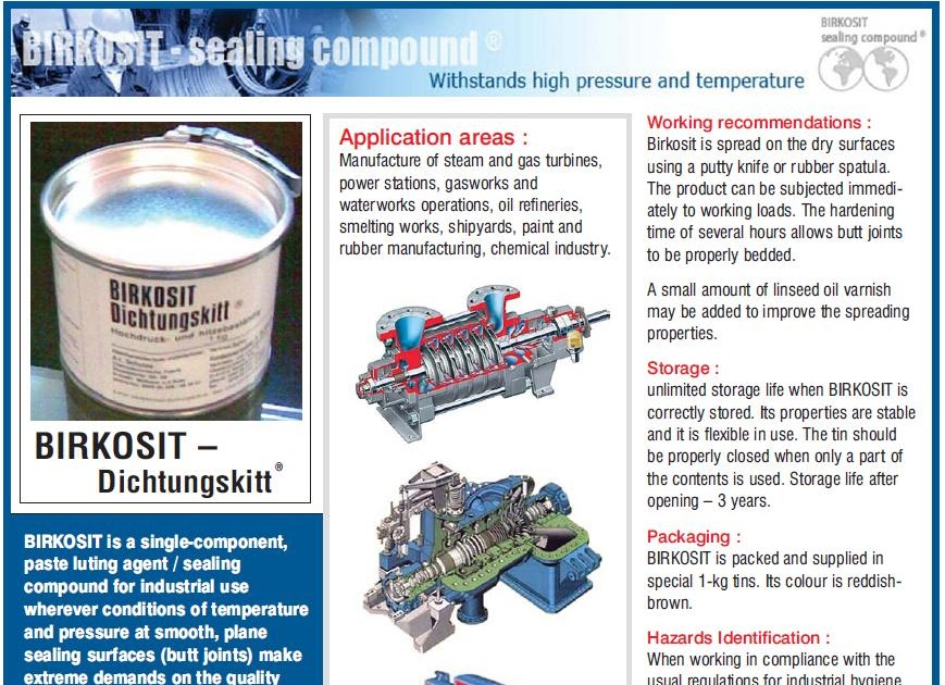 Sealing Compounds From Project Sales Corp Birkosit
