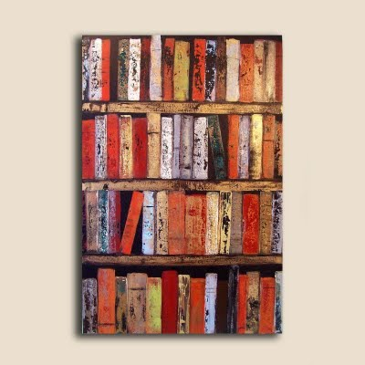 Book Dirt Paintings Of Bookshelves Almost As Lovely As