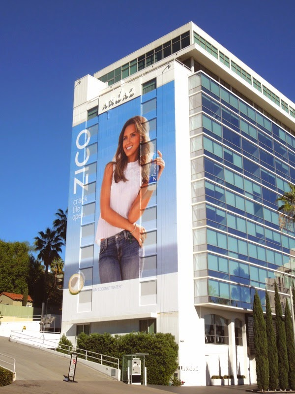 Giant Jessica Alba Zico Coconut Water billboard