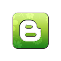 Blogger Retro Green Logo