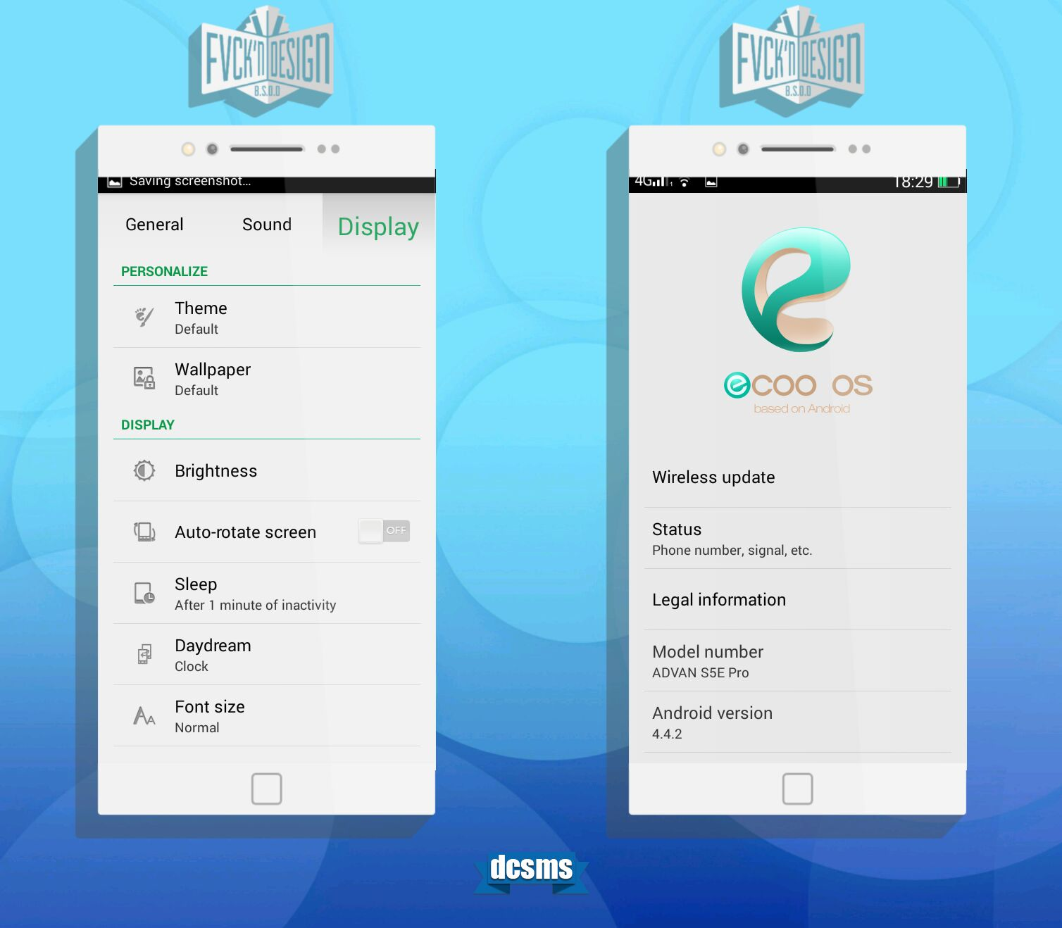 Ecoo OS V20 For ADVAN S5E Pro MT6572 Kitkat