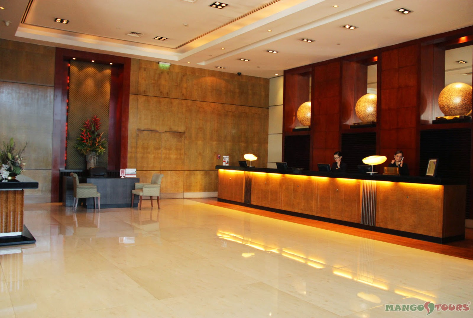 Mango Tours Crowne Plaza Manila Galleria Hotel Lobby Philippines
