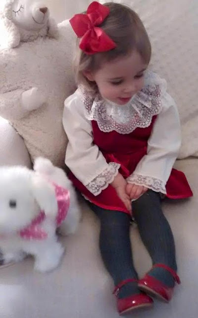 Princess Leonore is getting ready for Christmas in her moms old dress!