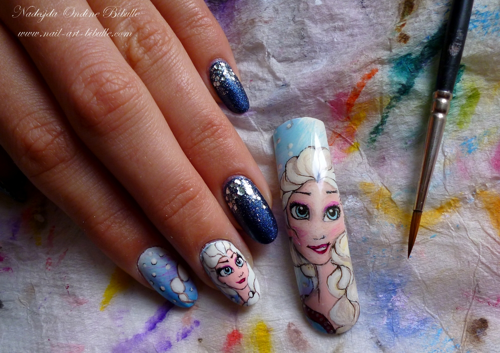 Nail Art Disney - La Reine des Neiges ! (Frozen)