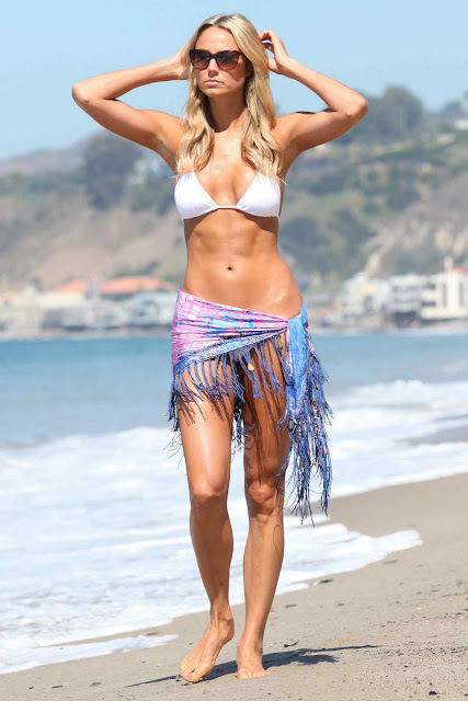 Stacy Keibler – Bikini Photoshoot Candids in Malibu