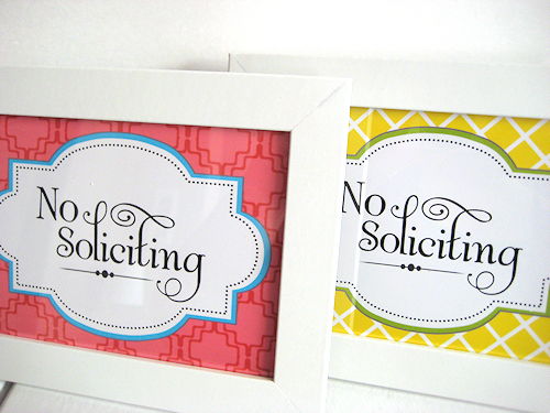 Nerdy image for no soliciting printable