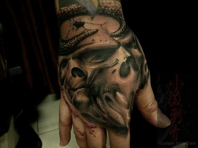 hand tattoo design this tattoo covers the whole hand which is not ...