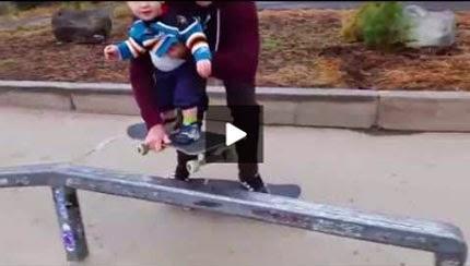 un padre genial skateboarding
