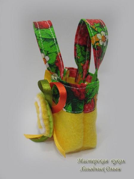 Кукольная сумка с декором
