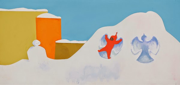 Ezra Jack Keats - Final illustration for The Snowy Day, 1962