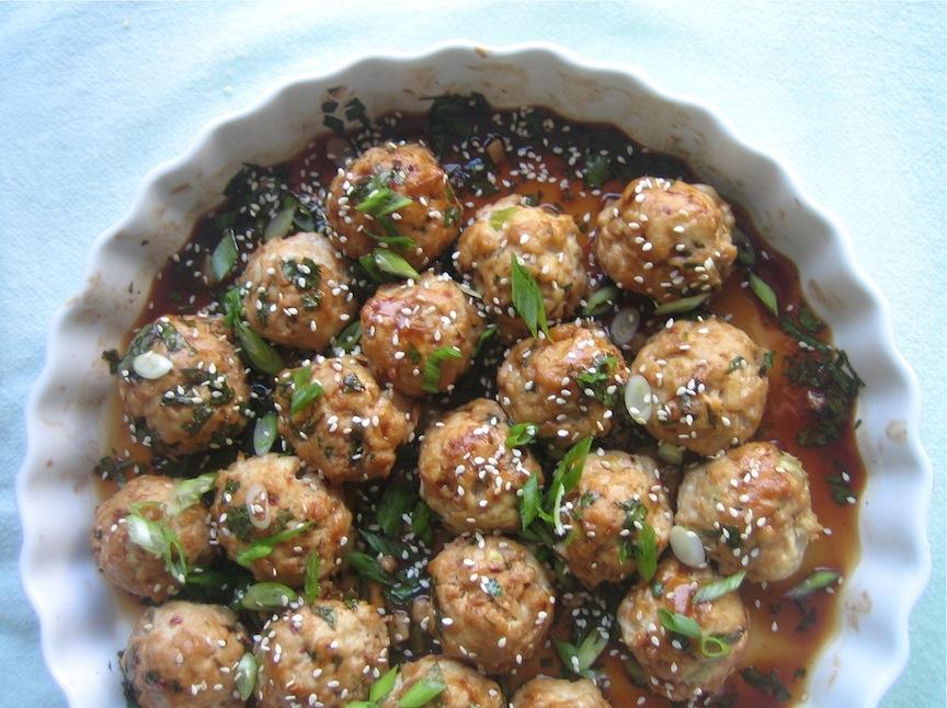 thyme for wine: Hoisin-Glazed Turkey Meatballs