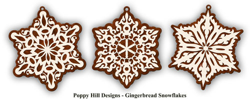 Poppy Hill Designs Kaleidoscope Your World Gingerbread Snowflakes