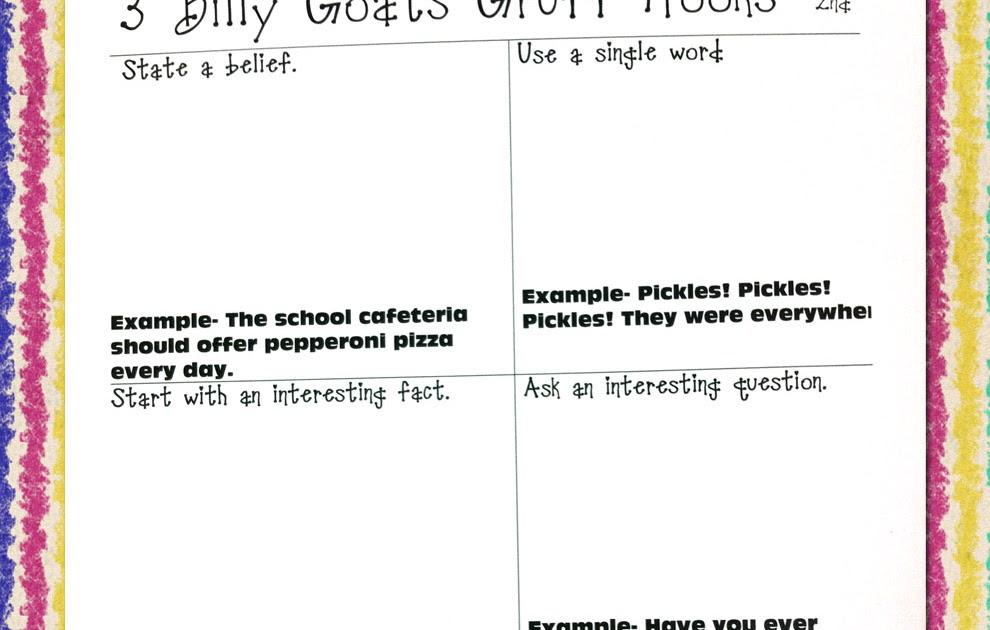 Hook writing practice