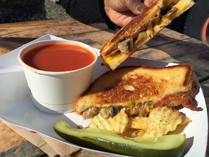 The Woody grilled cheese sandwich at The Grilled Cheese Grill