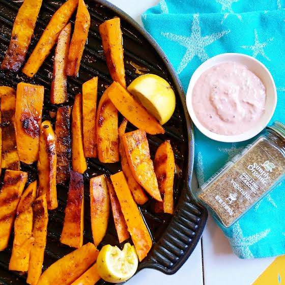little island studios: Grilled Sweet Potato Fries! #spon