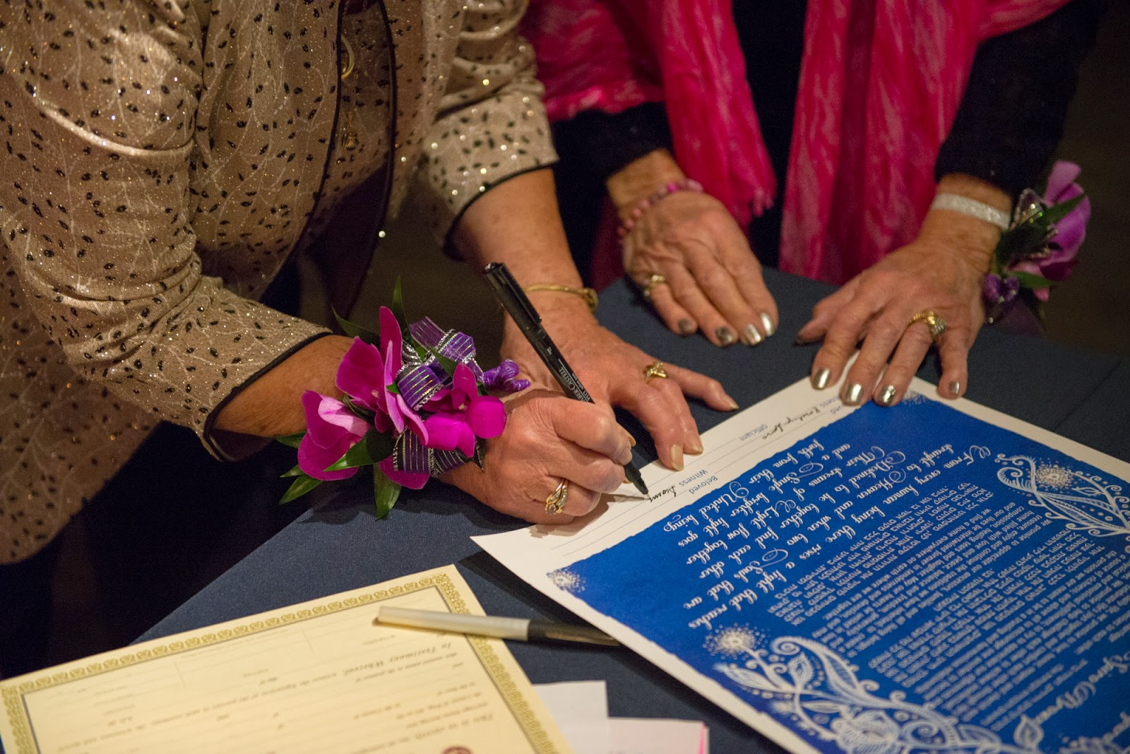 Ketubah signing - Seattle wedding
