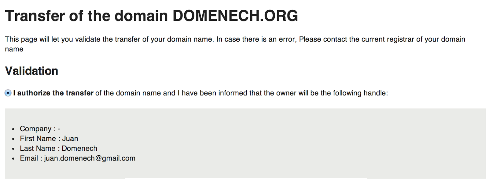 how to know my domain