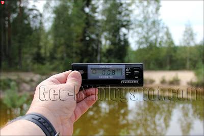 Измерение радиации около пожарного водоема