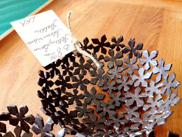 Pottery Barn metal flower dish