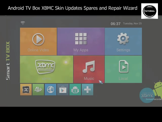 Android TV Box XBMC Skin Updates Spares and Repair Wizard - Tutorial ...