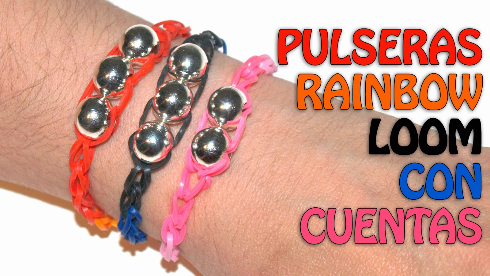 pulseras de gomitas rainbow loom superfaciles