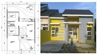 Gambar+dan+Denah+Rumah+Minimalis+7+x+15 Contoh Gambar Desain Rumah Minimalis Terbaru 2013