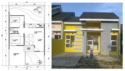 denah dan gambar rumah on Gambar Bangunan dan Denah Rumah Minimalis 2 Kamar