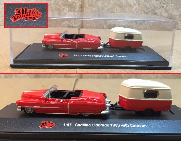 1953 Cadillac Eldorado Convertible with Camping Trailer ~
