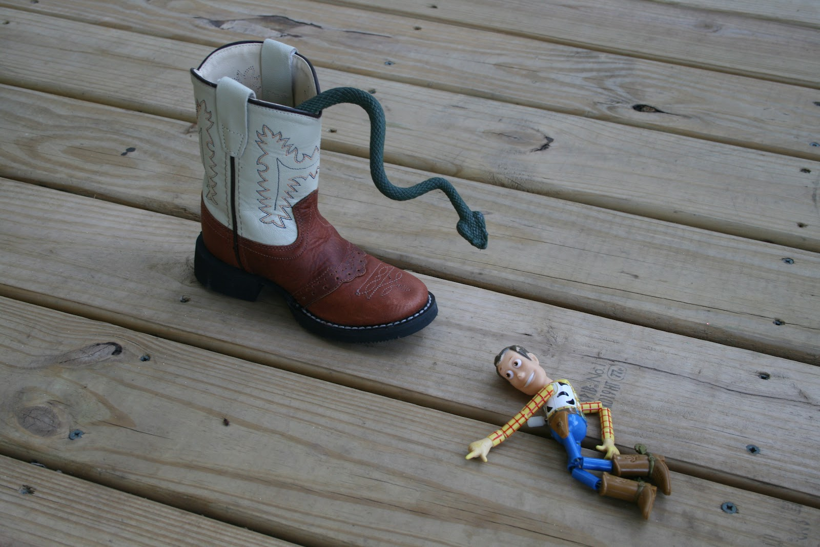 Go Momma!: there's a snake in my boot!