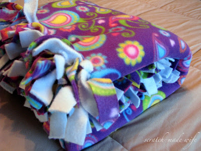 how to make a fleece blanket