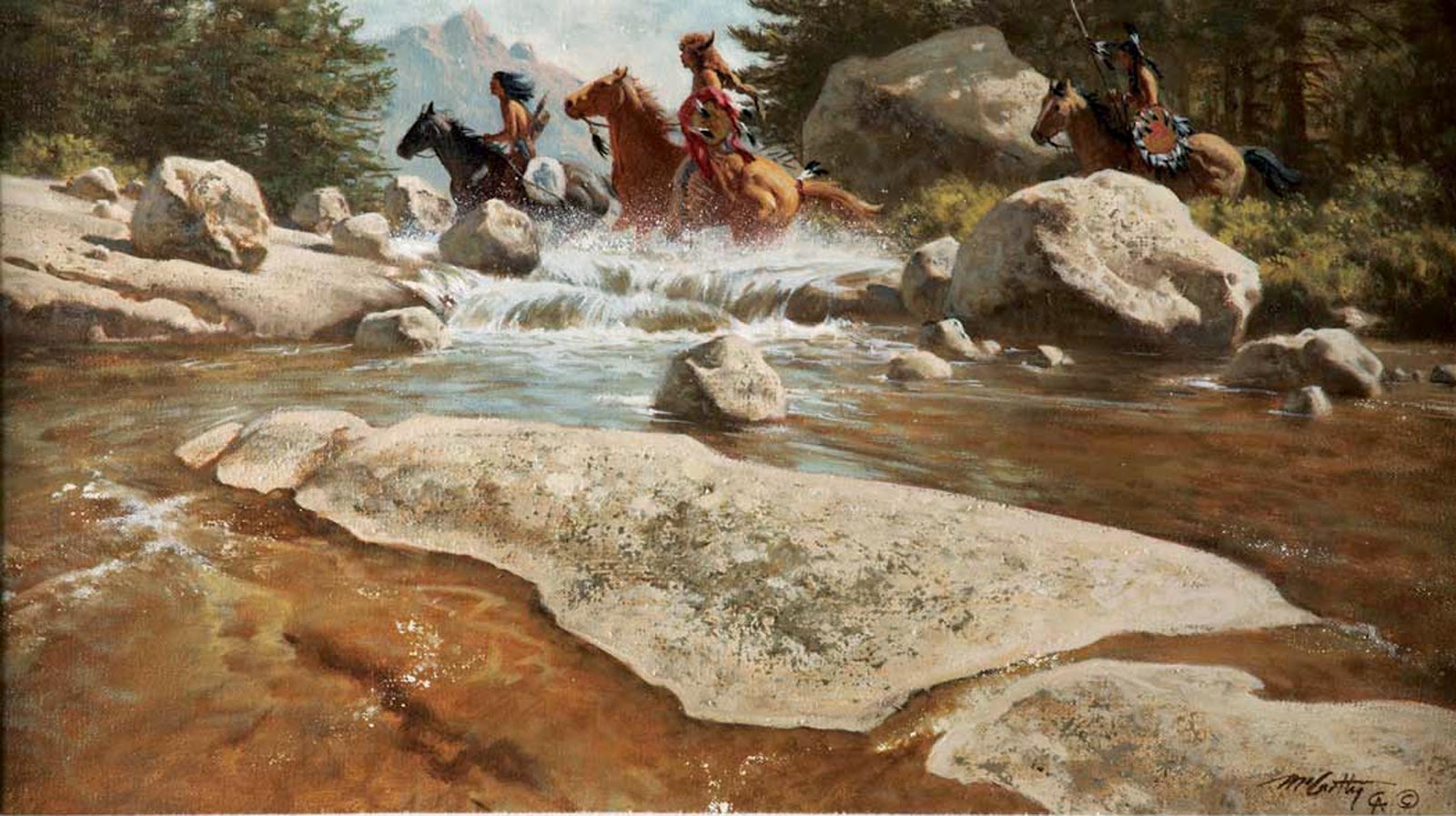 Graham Arader A Captivating Western Scene By Frank C Mccarthy