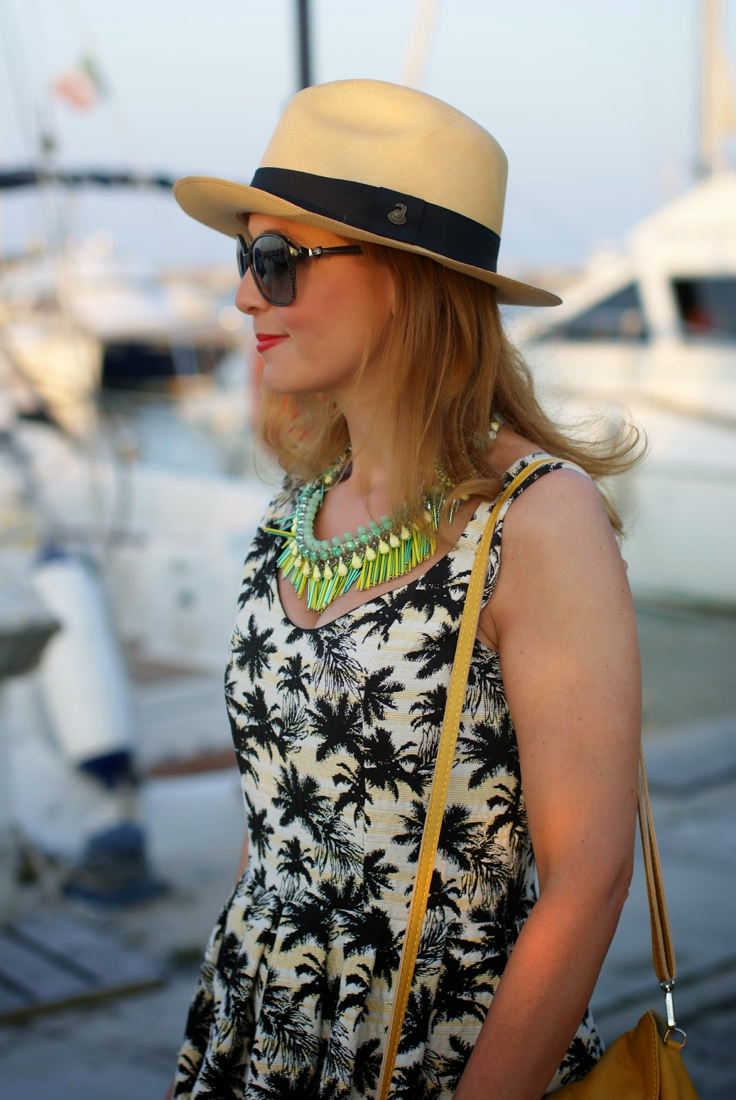 ecua-andino classic panama hat, palm print trend, Fashion and Cookies, fashion blogger
