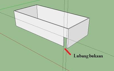 Cara membuat pintu dan jendela pada Google SketchUp-3