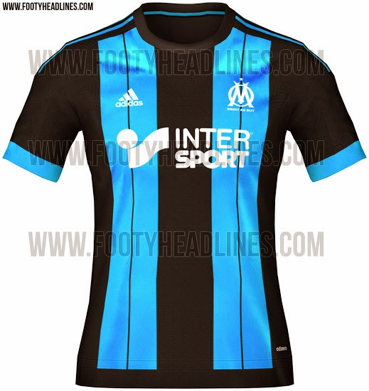 Jersey Away terbaru Olympique marseille terbaru musim depan 2015/2016