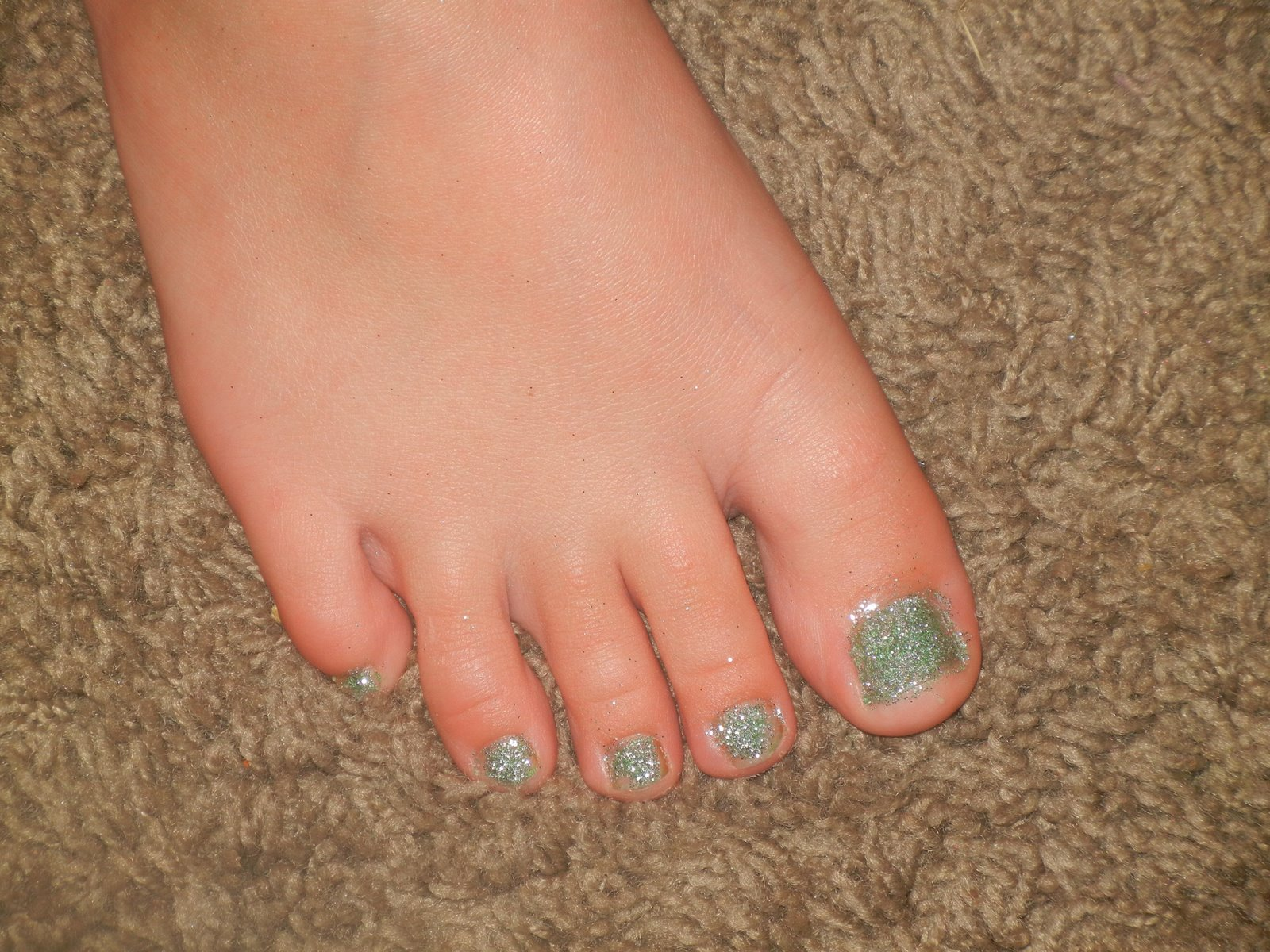 Glitter Toes How to do Glitter Toes