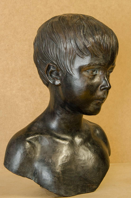 Retrato escultura barro cocido 7