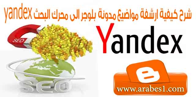 how to archive topics to Blogger yandex webmaster tools