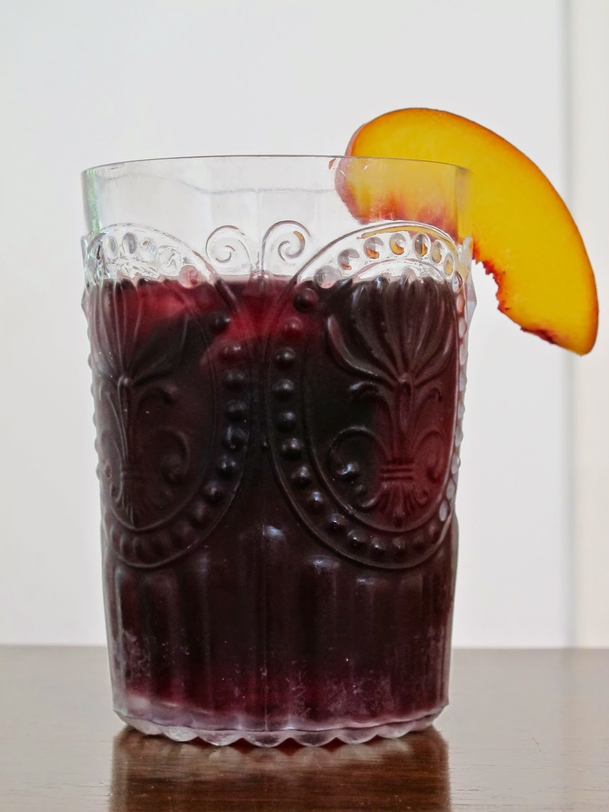 Peach and Raspberry Red Wine Sangria