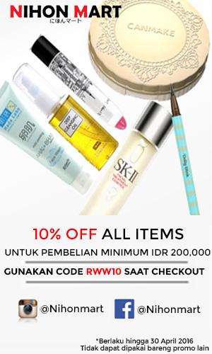 Dapatkan Diskon 10% di Nihon Mart dengan menggunakan kode RWW10