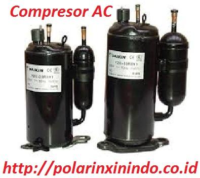 compresor. kompresor ac adalah sebuah alat yang berfungsi untuk menyalurkan gas refrigeran ke seluruh sistem. jika dianalogikan, cara kerja layaknya compresor /