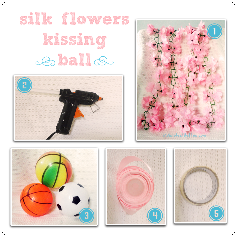 Silk Flowers Kissing Ball