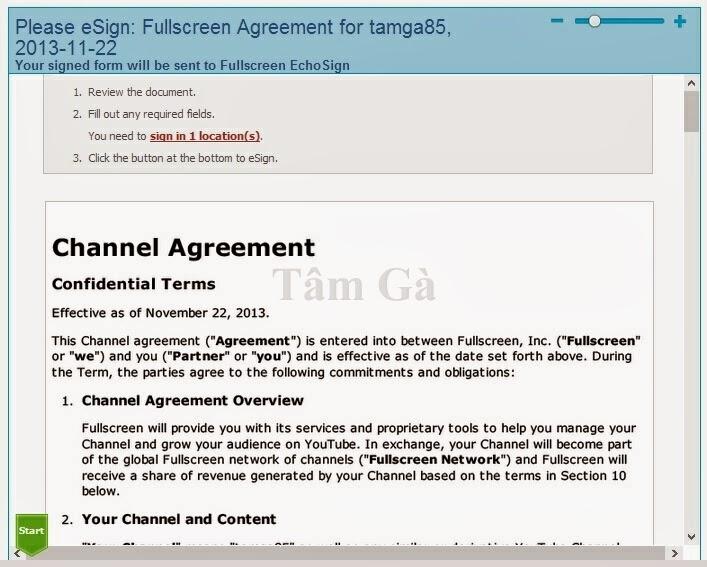 Fullscreen Agreement